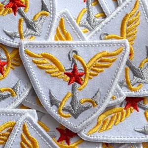 Машинная вышивка звезды